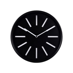 reloj de pared de metal analógico