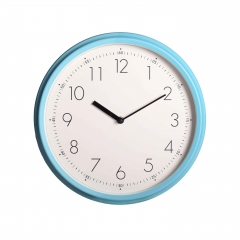 Quartz painting metal wall clock with clear numbers